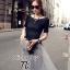 ( พร้อมส่งเสื้อผ้าเกาหลี) เซ็ตเสื้อแขนสั้นเนื้อผ้า Polyester+Spendex อัดพลีทแน่นยืดได้เยอะ ไม่อึดอัด สามารถใส่กับเกาะอกด้านในได้หลากหลายแบบ กระโปรงผ้าแก้วซีทรู Organza เกรดดี เนื้อผ้านิ่ม มีซับในในตัว พร้อมผ้าผูกเอวเนื้อผ้า Silk Satin เนื้อเงาดูหรูหรา และ thumbnail 2