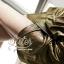 เสื้อผ้าเกาหลี พร้อมส่ง เดรสหรู ลุคสาวมั่น เนื่อผ้าทอพิเศษอย่างดีสีทองมันวับ thumbnail 7
