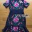 ชุดเดรสเกาหลี พร้อมส่งเดรสผ้าโพลีเอสเตอร์กระโปรงระบายปักลายดอกไม้สีสดใส thumbnail 13