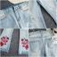 เสื้อผ้าแฟชั่นพร้อมส่ง กางเกงยีนวานฟอกนิ่ม ยืดอย่างดี thumbnail 7