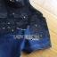 ชุดเดรสเกาหลี พร้อมส่งเดรสผ้าเดนิมตกแต่งผ้าทูลล์ปักลายดอกไม้สีดำ thumbnail 8