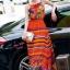 ชุดเดรสเกาหลี พร้อมส่งเดรสตัวยาว สีส้มโทนสดใส thumbnail 6
