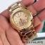 Patek Philippe หน้าปัดขนาด 35 mm. แสดงวันที่ตำแหน่ง 3 นาฬิกา เข็มล่างใช้งานได้จริง เป็นเข็มวินาที สายสแตนเลสสีทอง สายกลิ๊บล็อค งานสวยมากๆ ราคา 1090 thumbnail 3