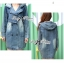 Kate Double-Breast Denim Dress with Hood thumbnail 3