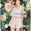 Leslie Color-Blended Pink Off-Shoulder Top and Shorts Set thumbnail 3
