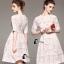 ชุดเดรสเกาหลีพร้อมส่ง Suzan White Lace Luxury Dress thumbnail 7