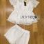 เสื้อผ้าเกาหลี พร้อมส่งเซ็ทเสื้อทรงเพบลัมและกางเกงผ้าลูกไม้แบบเข้าชุด thumbnail 8