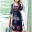 Ariana Bohemian Colorful Embroidered Cotton Dress thumbnail 6