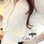 เสื้อผ้าเกาหลี พร้อมส่งเสื้อเชิ๊ตเนื้อผ้า chiffon polyester ตัดแต่งลูกไม้วิคทอเรียช่วงอก thumbnail 5