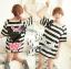 เสื้อผ้าเกาหลี พร้อมส่ง เสื้อยาวพิมพ์ลายทางและสกรีนลายมินนี่เมาส์ thumbnail 14