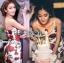Dolce & Gabbana Red Roses Printed Evening Dress thumbnail 8