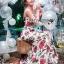 Dolce & Gabbana Red Roses Printed Evening Dress thumbnail 1