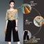 เสื้อผ้าเกาหลีพร้อมส่งชุด Set 2 ชิ้น เสื้อคอกลม แขนระบาย+กางเกงขายาว 9 ส่วน thumbnail 9