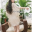 Cadie Pearl Flower Embroidered Fringed Lace Tunic thumbnail 4
