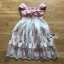Courtney Feather Embroidered Silk Organza Dress thumbnail 7