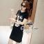 ชุดเดรสเกาหลี พร้อมส่งมินิเดรสลุค chic&casual thumbnail 11