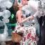 Dolce & Gabbana Red Roses Printed Evening Dress thumbnail 5