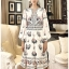 Deana Bohemian Printed & Embroidered White Dress thumbnail 4