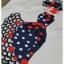 เสื้อผ้าเกาหลี พร้อมส่ง เซ็ทเสื้อ+กางเกง งานพิมพ์สีสดสวยคมขัด thumbnail 4