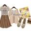 เสื้อผ้าเกาหลี พร้อมส่งเซ็ทเสื้อคลุมลูกไม้+เดรส thumbnail 2