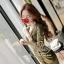 เสื้อผ้าเกาหลี พร้อมส่ง เดรสหรู ลุคสาวมั่น เนื่อผ้าทอพิเศษอย่างดีสีทองมันวับ thumbnail 11