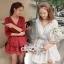 Mini Layered Dress Red Blood&White Classic Lace hem thumbnail 1