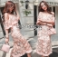 Rebecca Off-Shoulder Single Roses Lace Dress thumbnail 6