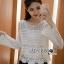 เสื้อผ้าเกาหลี พร้อมส่งเสื้อผ้าถักโครเชต์ลายลูกไม้สไตล์เบิสกวินเทจ thumbnail 10