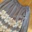เสื้อผ้าเกาหลี พร้อมส่งเสื้อยาวผ้าชีฟองทรงเปิดไหล่ปักลูกไม้ thumbnail 12