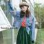 เสื้อผ้าแฟชั่นพร้อมส่ง แจ๊คเก็ตยีนส์ฟอกสีสวย thumbnail 7