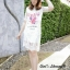 เสื้อผ้าเกาหลี พร้อมส่ง Dress ลูกไม้ฝรั่งเศส ลายโลโก้ Chanelรูปดอกไม้แต่ด้วยมุข thumbnail 2