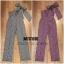 เสื้อผ้าเกาหลี พร้อมส่ง จั้มสูทตัวยาวลายตารางเล็ก โดดเด่นด้วยดีไซน์สุดเก๋สะพายไหล่ข้าง เพิ่มลูกเล่นด้วยbigbow thumbnail 3