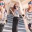 ชุดเดรสเกาหลี พร้อมส่ง Sequins Furnish Two Tone Maxi Dress thumbnail 3