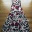 Dolce & Gabbana Red Roses Printed Evening Dress thumbnail 10