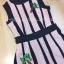 เสื้อผ้าเกาหลีพร้อมส่ง Jumpsuit แขนกุดเนื้อผ้าไหมพรมทอลายริ้ว thumbnail 2