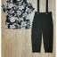 เสื้อผ้าเกาหลี พร้อมส่ง เซ็ทเสื้อ+เอี๊ยมกางเกง สายปรับได้ 2 ระดับ thumbnail 9