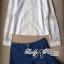 ( พร้อมส่งเสื้อผ้าเกาหลี) เซ็ตเสื้อเชิ้ตแขนยาวตกแต่งลูกไม้และกางเกงขาสั้นจับพลีต เซ็ตนี้เหมือนที่ดาราสาว Emma Roberts ใส่เป๊ะค่ะ เหมาะกับใส่เดินเล่นพักผ่อนในสไตล์ Out and about ตัวเสื้อเป็นทรงเชิ้ตแขนยาว ช่วงอกตัดต่อลูกไม้ทางยาว ช่วงแขนตกแต่งผ้าลูกไม้ เก๋ thumbnail 3