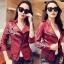 Zipper Hot Lady PU Jacket thumbnail 2