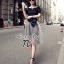 ( พร้อมส่งเสื้อผ้าเกาหลี) เซ็ตเสื้อแขนสั้นเนื้อผ้า Polyester+Spendex อัดพลีทแน่นยืดได้เยอะ ไม่อึดอัด สามารถใส่กับเกาะอกด้านในได้หลากหลายแบบ กระโปรงผ้าแก้วซีทรู Organza เกรดดี เนื้อผ้านิ่ม มีซับในในตัว พร้อมผ้าผูกเอวเนื้อผ้า Silk Satin เนื้อเงาดูหรูหรา และ thumbnail 6