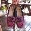 รองเท้าคัชชูส้นแบนหัวตัด วัสดุผ้าทออย่างดี หน้าเย็บ Logo CC พื้นตีแบรนด์ CHANEL thumbnail 2