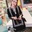 ชุดเดรสเกาหลี พร้อมส่งMini Dress โบฮีเมี่ยนสีดำ thumbnail 1