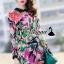 เสื้อผ้าเกาหลี พร้อมส่งFashionista pink flora set thumbnail 3