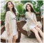 Cadie Pearl Flower Embroidered Fringed Lace Tunic thumbnail 6