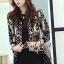 ( พร้อมส่งเสื้อผ้าเกาหลี) เสื้อคลุมเนื้อผ้าไหมพรมเนื้อสวยมากๆ สวยดูหรูด้วยงานทอเป็นลายสไตล์ Retro ลายทอเป็นลายนูนนะคะ ดูสวยมากคะ เก๋ๆ ด้วยทรง Jacket อินเทรนด์ Autumn Winter thumbnail 4