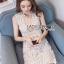 ชุดเดรสเกาหลีพร้อมส่ง เดรสผ้าลูกไม้สีขาวพร้อมซับในสีเนื้อสไตล์เซ็กซี่ thumbnail 5