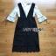 เสื้อผ้าเกาหลีพร้อมส่ง เสื้อผ้าลูกไม้สีขาวทับด้วยเดรสสีดำตกแต่งลูกไม้ thumbnail 8