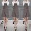 เสื้อผ้าเกาหลี พร้อมส่งเอี้ยมกระโปรงลายสก๊อตสีเทาScott&Shinori thumbnail 11