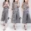 เสื้อผ้าเกาหลี พร้อมส่งMacy Grey - Set เสื้อ+กางเกง+เสื้อคลุม thumbnail 3