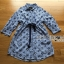 Jackie Blue Striped Star Laser-Cut and Embroidered Cotton Shirt Dress thumbnail 6