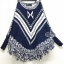 Winter Tassel V Stripes Knit Bat Sleeve Blouse thumbnail 5